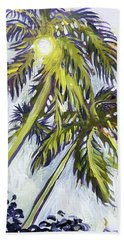 Bath Towel featuring the painting Two Palm Sketch by Tilly Strauss