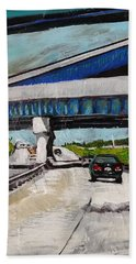 Bath Towel featuring the painting Underpass Z by Tilly Strauss