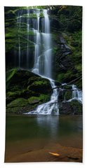 Upper Catawba Falls, North Carolina Bath Towel