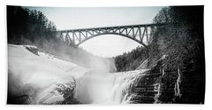 Upper Falls At Letchworth State Park Hand Towel