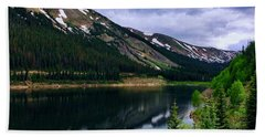 Hand Towel featuring the photograph Urad Lake by Dan Miller