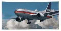 Us Airways Boeing 767-200 Bath Towel