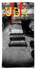 Usa Flag Guitar Relic Hand Towel