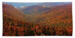 Bath Towel featuring the photograph Valley Below Mount Greylock by Raymond Salani III