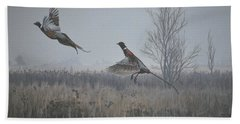 Valley Pheasants Hand Towel