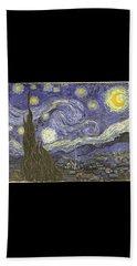 Van Goh Starry Night Hand Towel