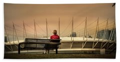 Vancouver Stadium In A Golden Hour Hand Towel