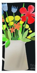 Vase With Flowers Hand Towel