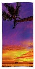 Vibrant Kona Inn Sunset Hand Towel