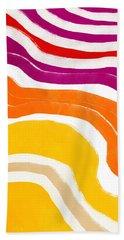 Vibrant Waves 1- Art By Linda Woods Hand Towel