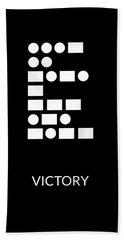 Victory Morse Code- Art By Linda Woods Hand Towel