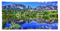 Bath Towel featuring the photograph Viele Lake 2 by Dan Miller