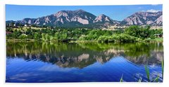 Bath Towel featuring the photograph Viele Lake 3 by Dan Miller