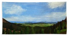 Bath Towel featuring the painting View From Pikes Peak by Samantha Galactica