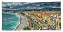 View Of Nice France From Castle Hill Bath Towel
