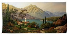 View Of Northern Italy Hand Towel