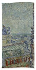 View Of Paris From Theos Apartment In The Rue Lepic, 1887  Bath Towel