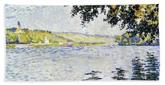 View Of The Seine At Herblay - Digital Remastered Edition Hand Towel
