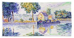 View Of The Seine, Samois - Digital Remastered Edition Hand Towel