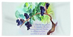 Vine And Branch With Scripture Hand Towel
