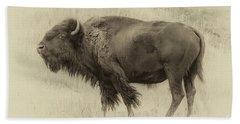 Vintage Bison I Hand Towel