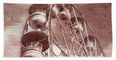Vintage Ferris Wheel Bath Towel