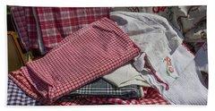 Vintage French Textiles Bath Towel