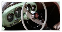 Bath Towel featuring the photograph Vintage Kaiser Darrin Automobile Interior by Debi Dalio