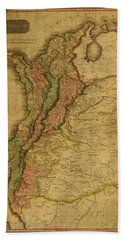 Vintage Map Of Columbia 1818 Bath Towel