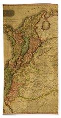 Vintage Map Of Columbia 1818 Bath Towel