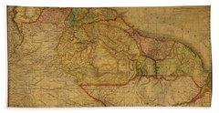 Vintage Map Of Guyana And Eastern South America 1818 Bath Towel
