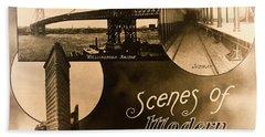 Vintage New York City Travel Brochure Hand Towel