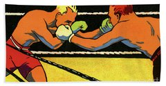 Vintage Poster For 1924 Paris Olympics Showing Two Boxers Boxing Hand Towel