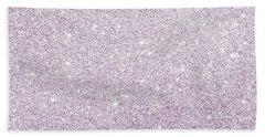 Violet Glitter Bath Towel