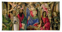 Virgin And Child With Saints From The Altarpiece Of San Barnabas, Bath Towel