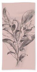 Visnea Mocanera Blush Pink Flower Bath Towel