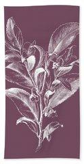 Visnea Mocanera Purple Flower Bath Towel