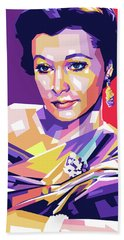 Vivien Leigh Pop Art Bath Towel