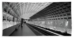 Waiting At Pentagon City Station Hand Towel