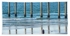 Walk To The Pier Bath Towel