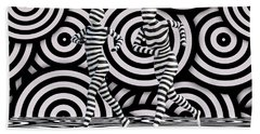 Walking In Black And White Hand Towel