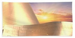 Wall Disney Concert Hall At Sunset Bath Towel