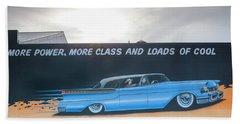 Wall Mural With 1950s-era Car Bath Towel