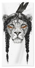 Warrior Lion Bath Towel