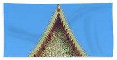 Wat Nong Khrop Phra Ubosot Gable Dthcm2663 Bath Towel