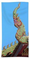 Wat Nong Khrop Phra Ubosot Naga Roof Finials Dthcm2665 Bath Towel