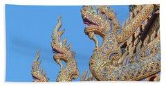 Wat Nong Tong Phra Wihan Naga Roof Finials Dthcm2648 Hand Towel