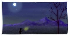 Watching Shooting Stars Bath Towel