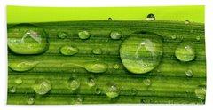 Water Drops On Leaf Bath Towel