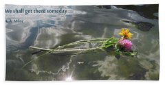 Water Reflection And Quote Hand Towel